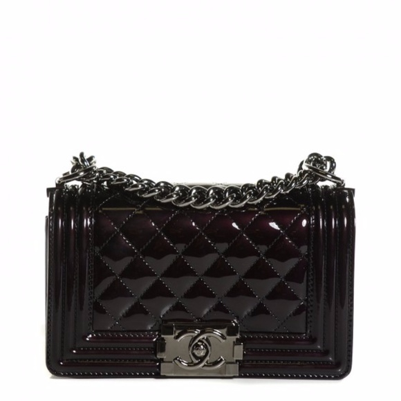 3914f6cff795 CHANEL Bags | Le Boy Small Black Quilted Patent Leather | Poshmark
